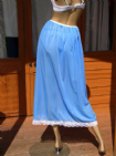 "AUTHENTIC 1960's SILKY NYLON MAXI HALF SLIP WAIST:- 23-34""  #A23"